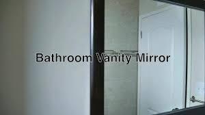 Custom Framed Bathroom Mirrors Hanging Bathroom Mirrors With Frame Mirror Contemporary Vanity