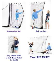 Basement Batting Cage by Zip Net Indoor Sports Net Hittingworld Com