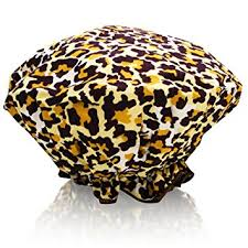 Cheetah Print Bathroom by Amazon Com Bath Accessories Bouffant Shower Cap Leopard Print
