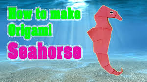 how to make origami seahorse for kids tutorial origami animals