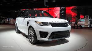 land rover svr white range rover sport svr brings its supercharged v8 to paris live