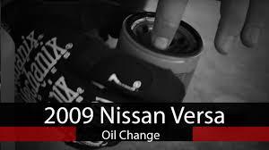 nissan versa oil light 2009 nissan versa oil change youtube