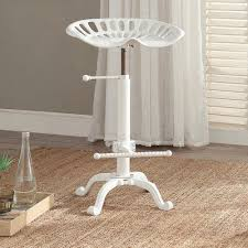 Tractor Seat Bar Stools For Sale Carolina Cottage Tractor Seat Adjustable Height White Bar Stool