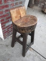 rustic outdoor bar stool foter