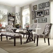 trestle base dining table homehills maxon espresso steel top trestle base dining table