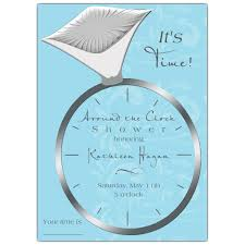 around the clock bridal shower big bling around the clock shower invitations paperstyle