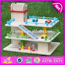 2015 kids favorite wooden toy car garage selling parking lot