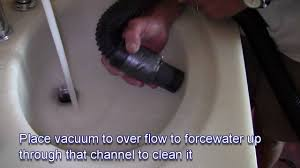 how to clear a sink drain with a shop vac youtube
