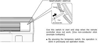 how to operate hitachi split ac without remote control fixya