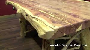 Red Dining Table by Red Cedar Log Dining Table From Logfurnitureplace Com Youtube