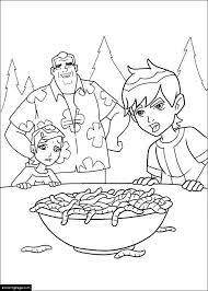 ben 10 max gwen bowl worms coloring ecoloringpage