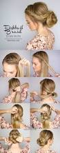 18 easy braided bun hairstyle tutorials gurl com