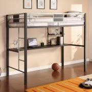 dorel silver screen twin metal loft bed with desk black silver
