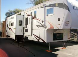 Trailer Garage by 2009 Heartland Cyclone 3950 Toy Hauler W 12 U2032 Garage Hickman Rv