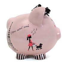 Engraved Piggy Bank Personalized Hand Painted Miss Madeline Piggy Bank Personaliza