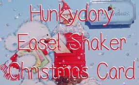 christmas hunkydory snow bear shaker easel card youtube