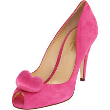 pink suede kate spade wedding shoes