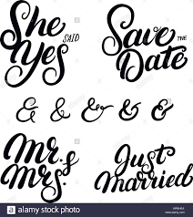wedding quotes calligraphy set of written lettering wedding quotes save the date she
