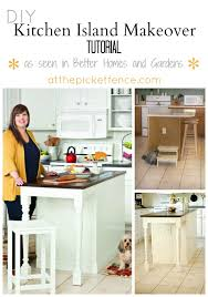 kitchen island makeover tutorial at the picket fence