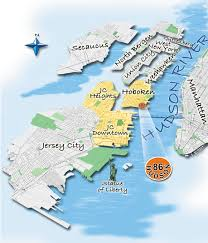 New York City On A Map by Maps U0026 Directions Hobokeni Com Hoboken Nj