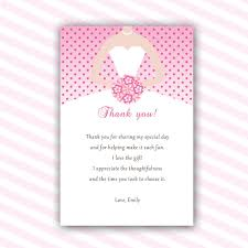 bridal shower thank you notes dress thank you cards bridal shower thank you note sweet 16 thank