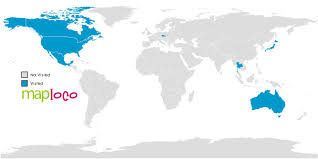 countries visited map countries i ve visited australia canada republic