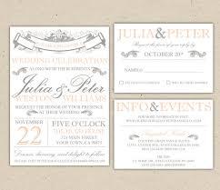 wedding invitations rsvp wording vintage modern wedding invitation and rsvp template diy 1053