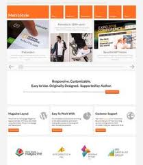 this metro style joomla template features a responsive layout