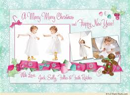 sugarplum christmas card snowflakes photos sweet holiday 2017