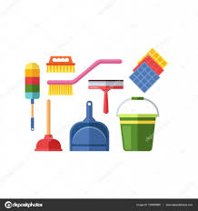 house cleaning tools vector u2014 stock vector vectorshow 135995868