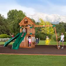 Gorilla Playsets Catalina Wooden Swing Set Backyard Slide Sets Backyard Decorations By Bodog