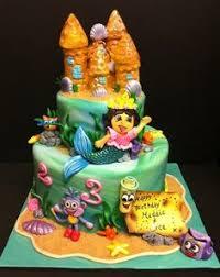 dora mermaid cake album childrens birthday cakes cakepins