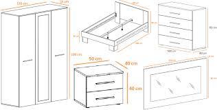 ensemble chambre à coucher adulte chambre complète design blanc noir laqué novomeuble