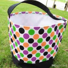 wholesale easter buckets wholesale cheap personalized polka dot stripe