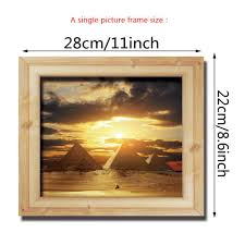 home decor 3d stickers 3d photo frame scenery wall stickers for kids room diy home