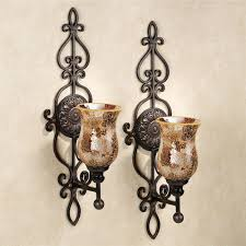 Mosaic Wall Sconce Leyanna Mosaic Aged Brown Wall Sconce Pair