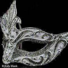 italian masquerade mask venetian masquerade mask colombina punta white vin