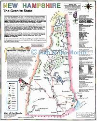 New England State Map by New Hampshire Map Maps For The Classroom