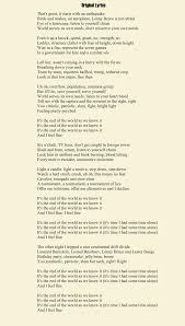Light One Candle Lyrics Alt Lyrics To The R E M Song U201cit U0027s The End Of The World As We