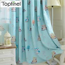 owl bedroom curtains topfinel cartoon owl shade blinds finished window blackout