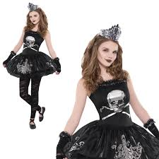girls zomberina new kids zombie ballerina halloween fancy dress