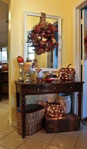 entry way decorations for fall i like the idea of lighted