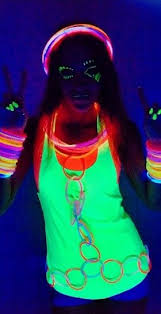 black light party clothes attend a glow party like this clothes pinterest neon