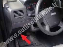jeep passport 2015 obd2 connector location in jeep patriot 2006 outils obd facile