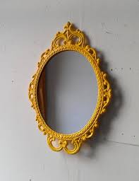 Metal Framed Bathroom Mirrors by Framed Oval Mirror In Vintage Metal Frame 17 X 12 Inch