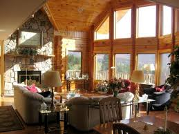 luxury log home interiors lovely luxury log home great rooms using fabric sofa loveseat sets
