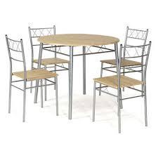 table ronde cuisine conforama ensemble table ronde et 4 chaises de cuisine lota coloris gris