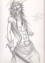 hollow ichigo original sketch by brynkmeister on deviantart