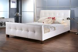 dreamland black faux leather elizabeth bed frame the world of beds