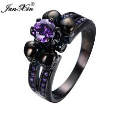 aliexpress buy junxin new arrival black aliexpress buy junxin new fashion skull purple zircon